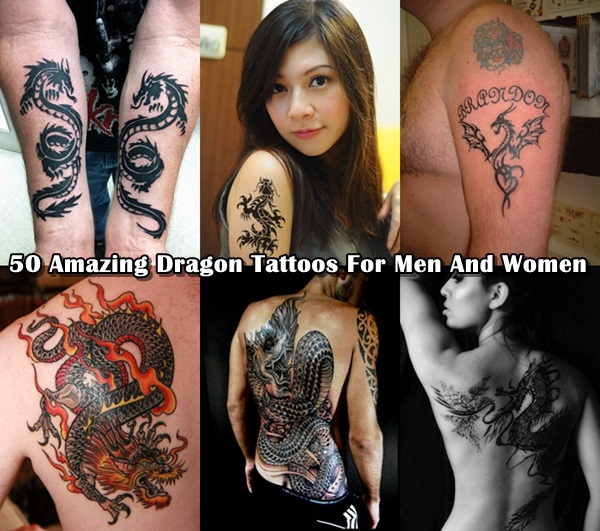 50 Amazing Dragon Tattoos | Dragon Tattoo Designs for Men & Women