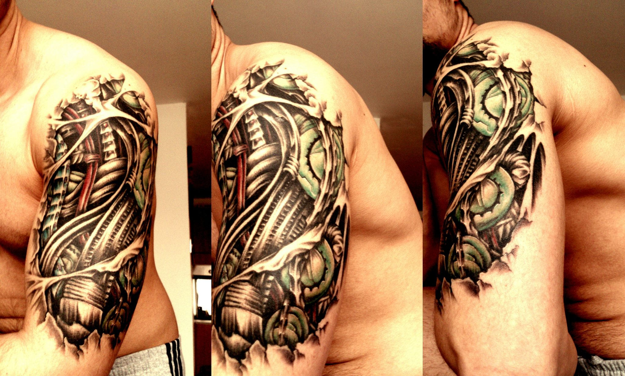 Amazing Biomechanical Tattoos for Men on Arm