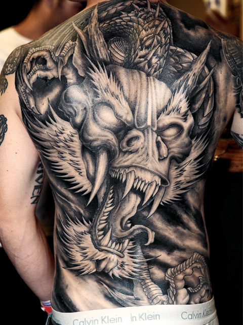 Back-And-white-Dragon-Tattoo-for-men-all-back