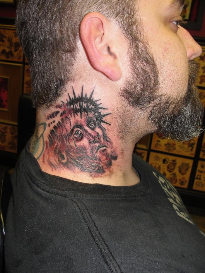 Best 3d tattoos on neck for men
