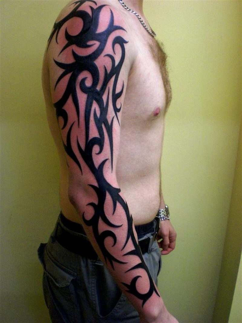 30 best tattoos for men for Tribal tattoos for men forearm