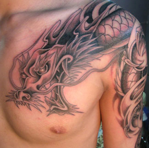 22. Heart Chest Tattoo for Men