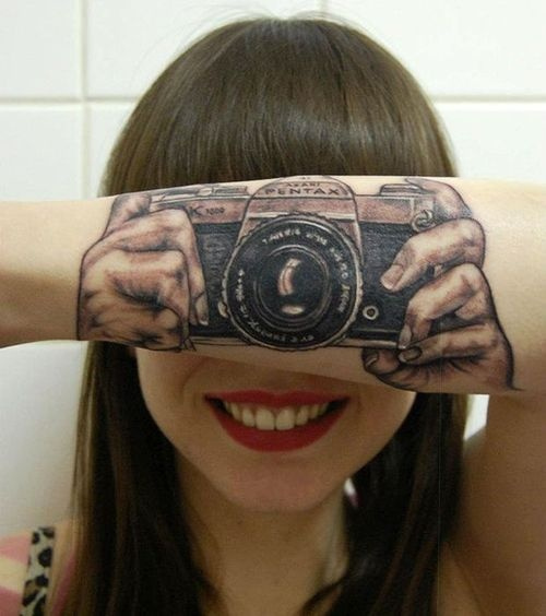 Creative 3D Arm Tattoo