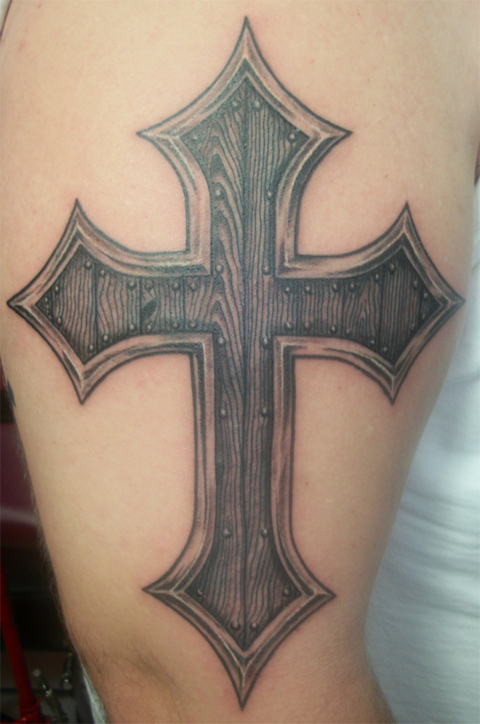 Gallery Upper Arm Cross Tattoo Ideas For Men