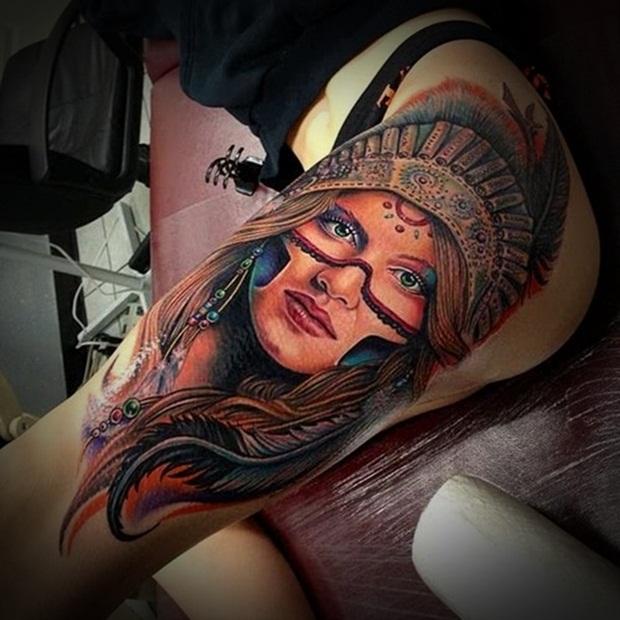 Sexy Leg Tattoo Designs for Women (5)