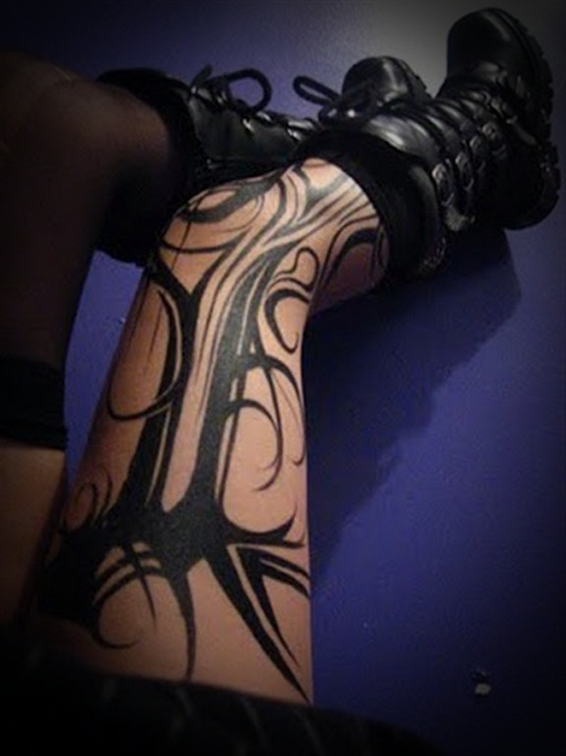 Sexy Leg Tattoo Designs for Women (8)