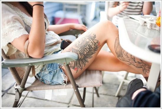 Sexy Thigh Tattoo