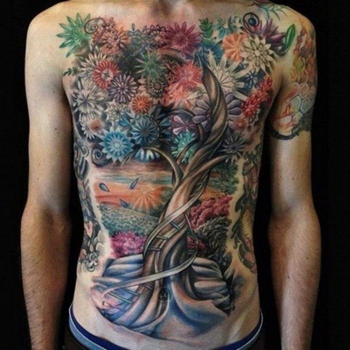 75 Finger Tattoos For Men: Back Tattoo Ideas For Men