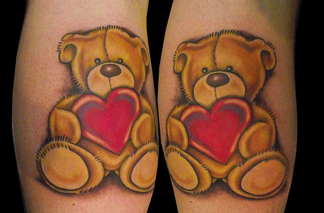 Unique Teddy Bear Tattoo