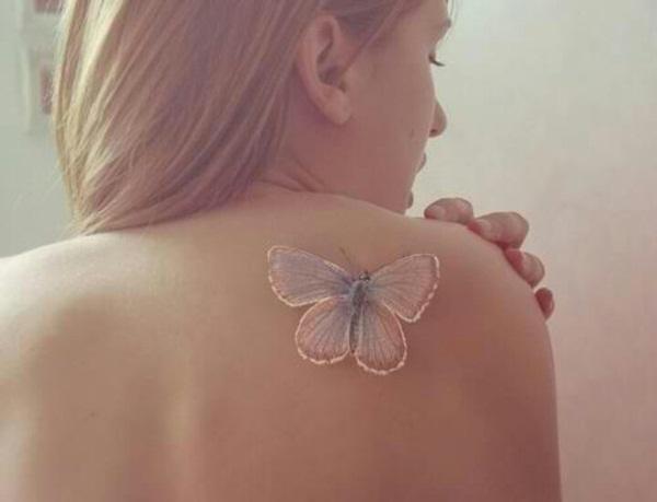 25 creative butterfly tattoo designs for women for Women s 3d tattoos