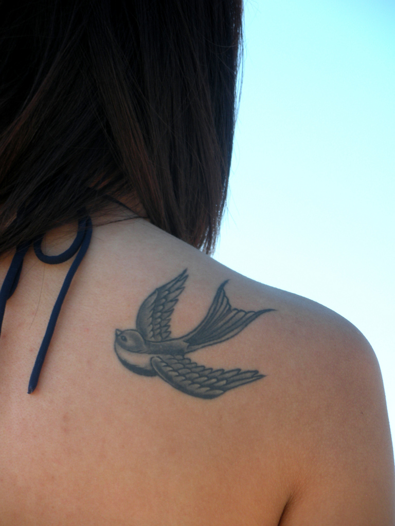 Best Swallow Tattoo Design and Idea for Women