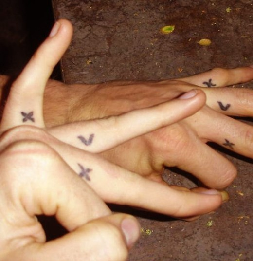 Butterfly Tattoo designs on Finger
