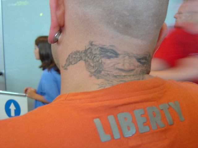 Crazy Tattoo on Neck