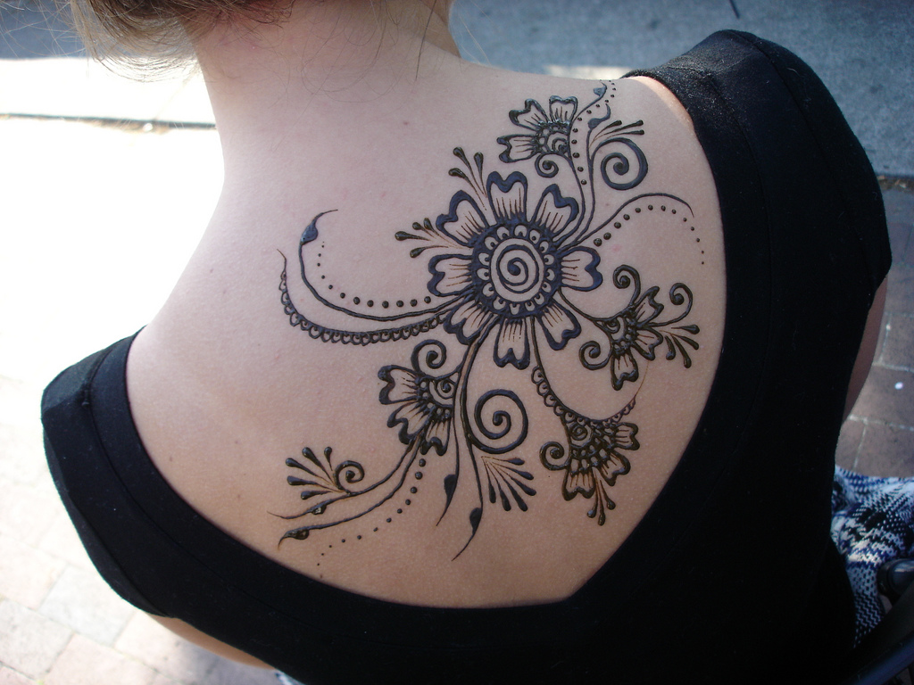 Henna Flowers Tattoo Design