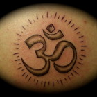Om Sun Tattoo Design