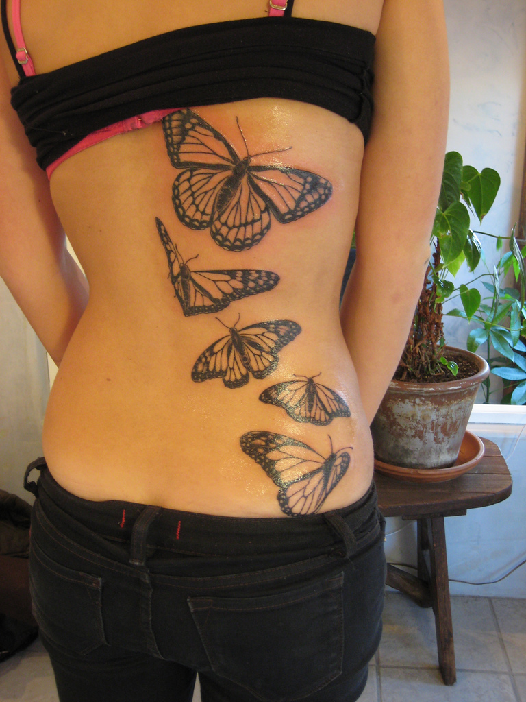 Sexy Butterfly Tattoo for girls