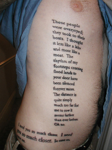 Song lyrics Tattoo