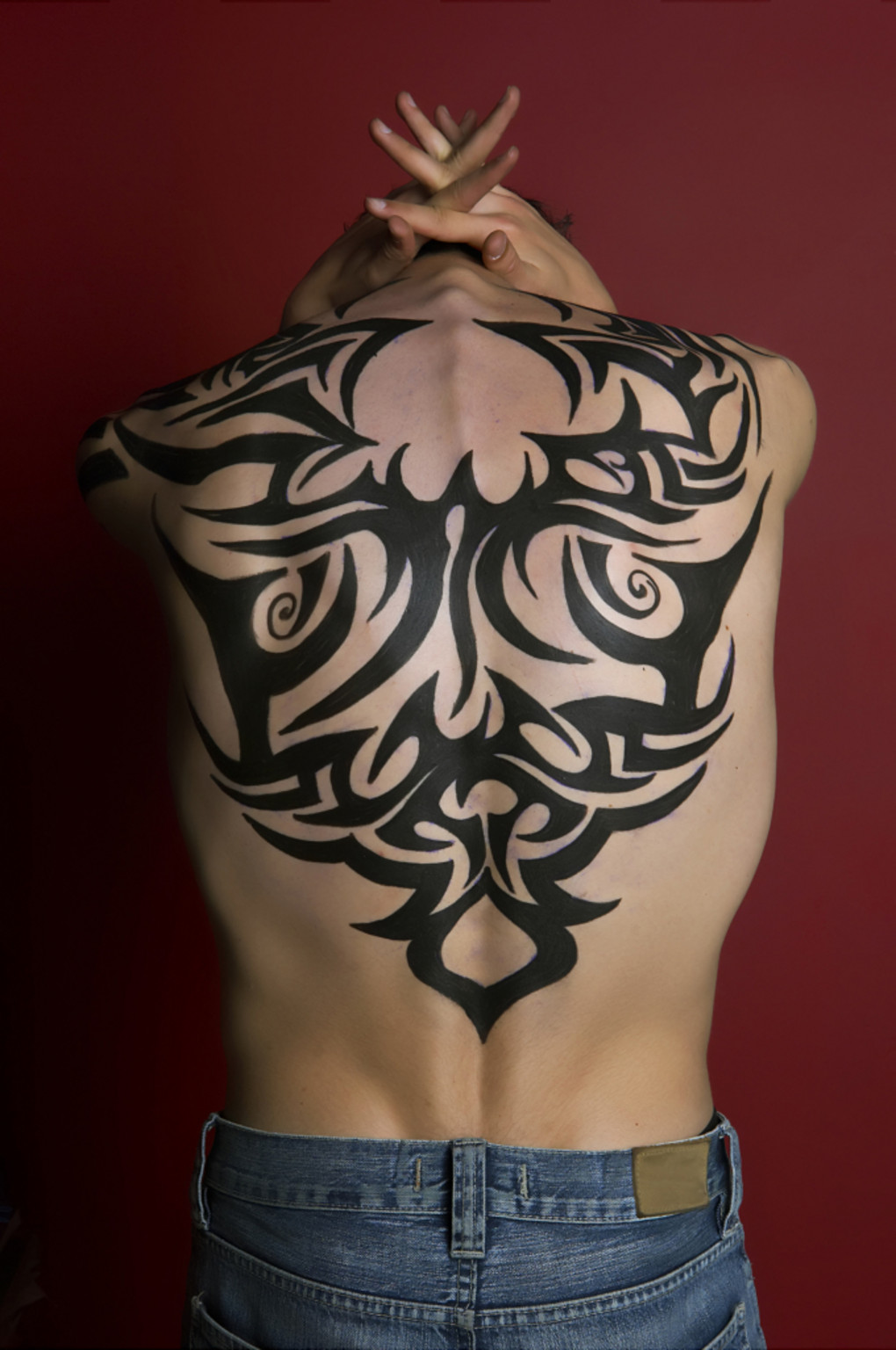 Tribal Butterfly Tattoos for Men