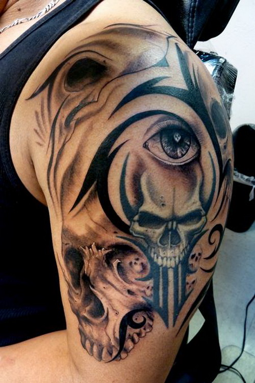 Tribal Skull Tattoos for Men