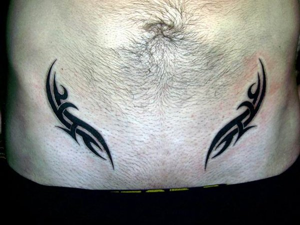 Tribal Stomach Tattoos for Men