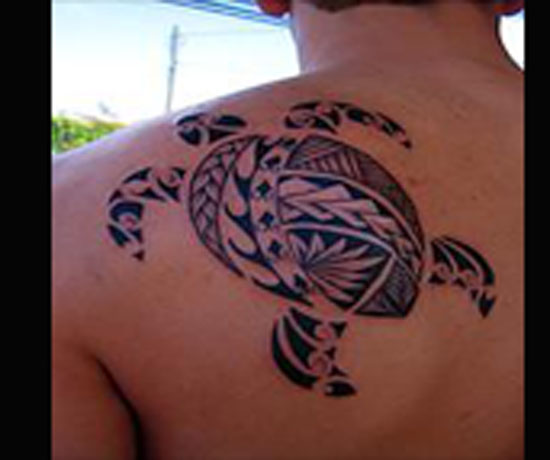 Tribal Turtle Tattoos for Men