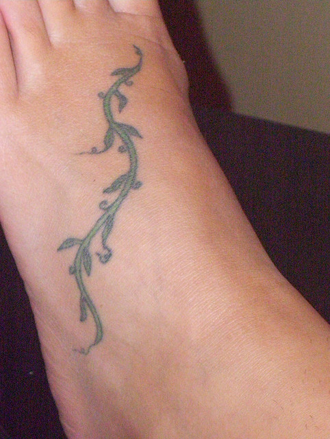 Vine tattoos on Foot