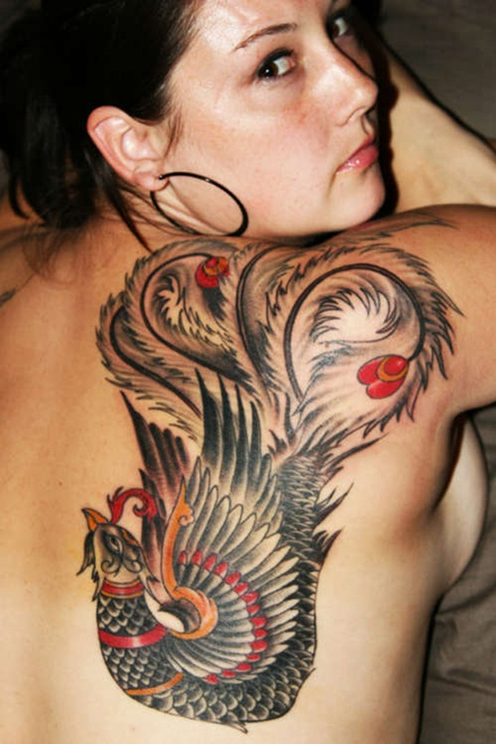 Amazing Phoenix Tattoo for Women