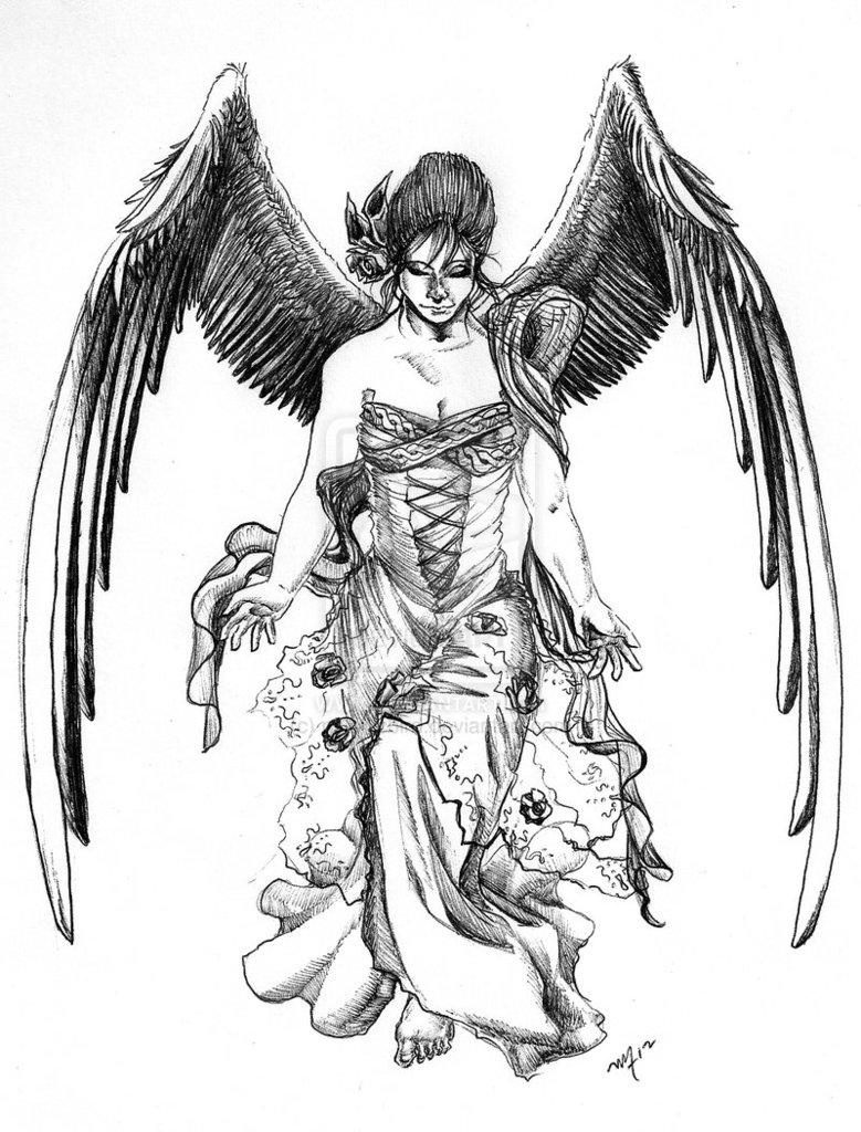 Angel Tattoo Sketches