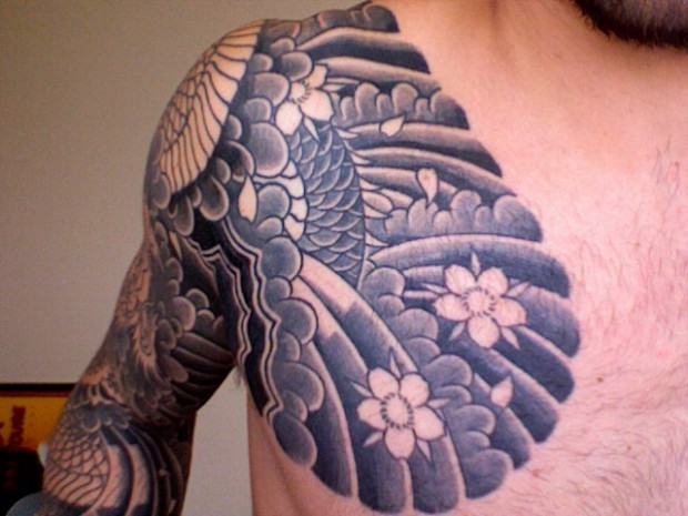 Japanese Chest Tattoo For Women
