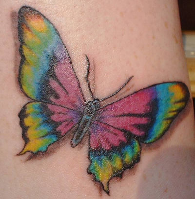 Rainbow But Butterfly Tattoo