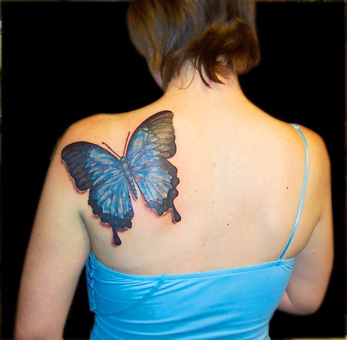 Shoulder Butterfly Tattoo
