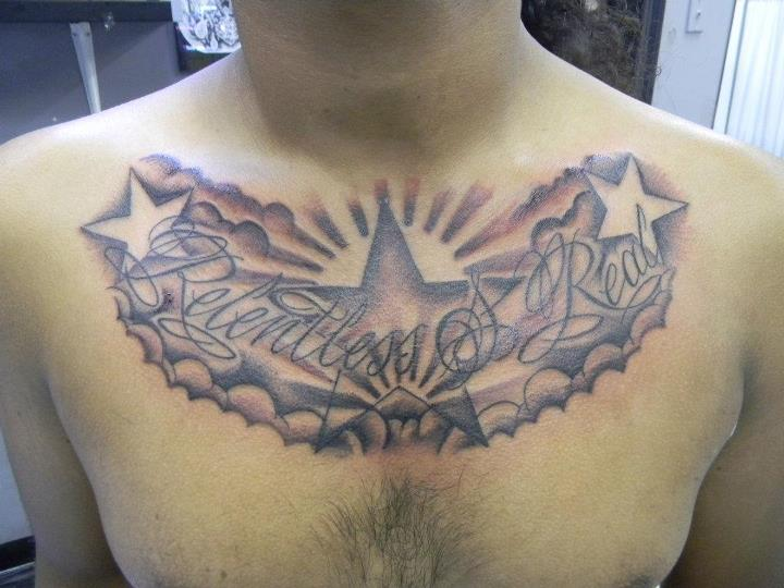 Stary Chest Tattoo