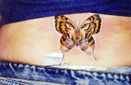 Tiger Butterfly Design