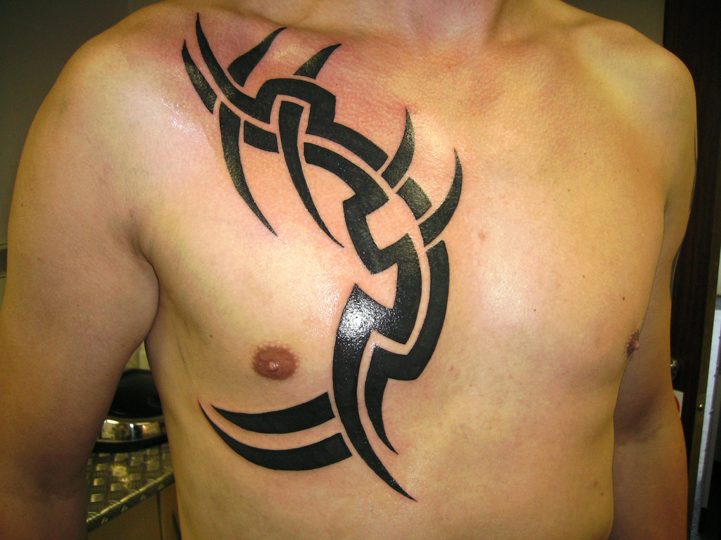 Tribal Tattoo Design Chest