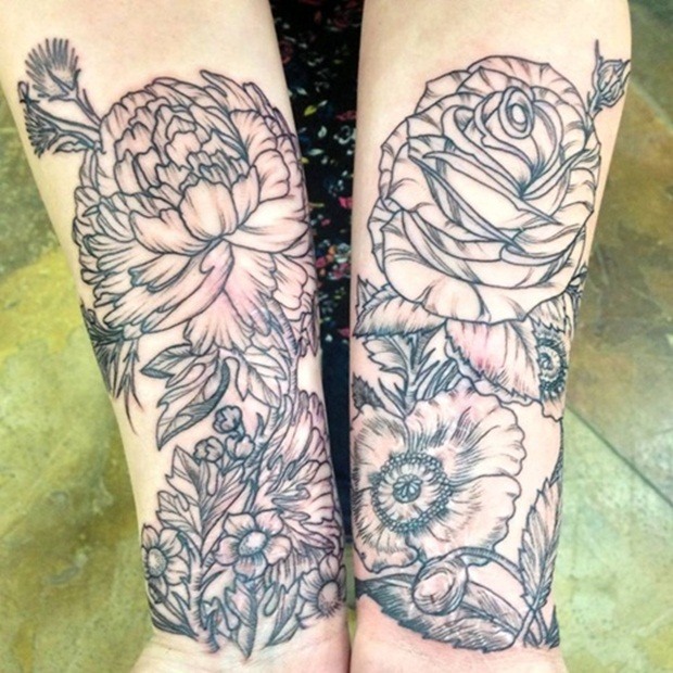 Flower Tattoo Designs for Women6