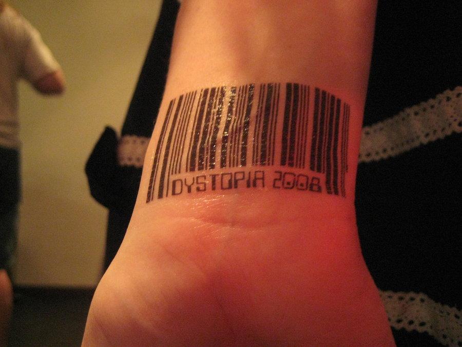 Barcode Tattoo Neck Barcode Tattoo on Wrist