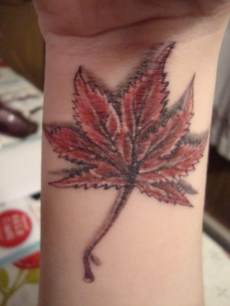 Japanese Maple Leaf Tattoo