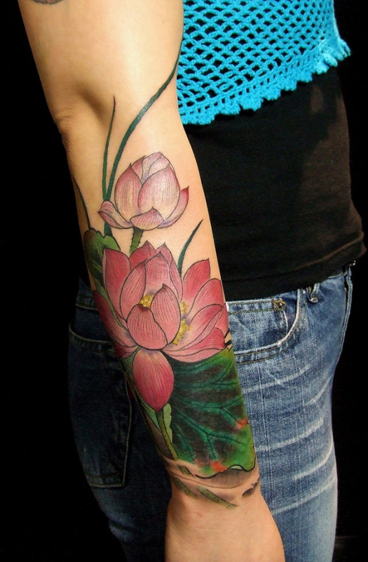 Lotus Flower Tattoos35