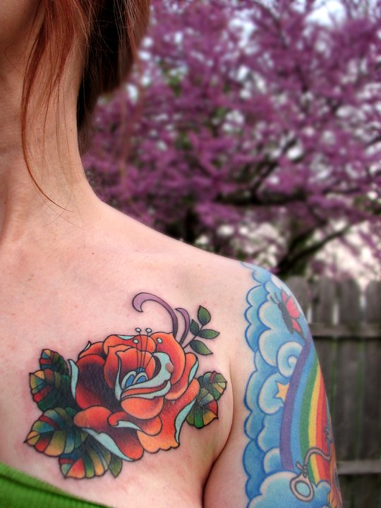 Rose Tattoo Designs for Girls1