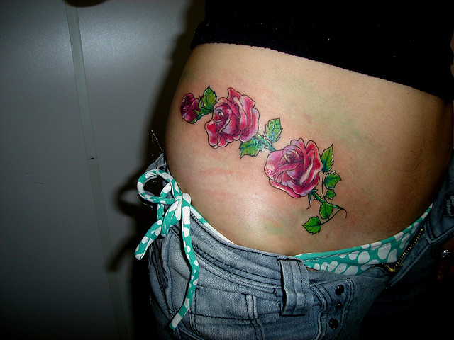 Rose Tattoo Designs for Girls10