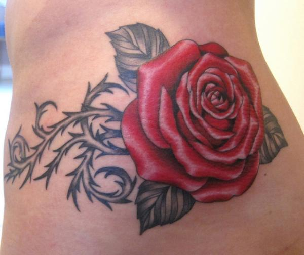 Rose Tattoo Designs for Girls15