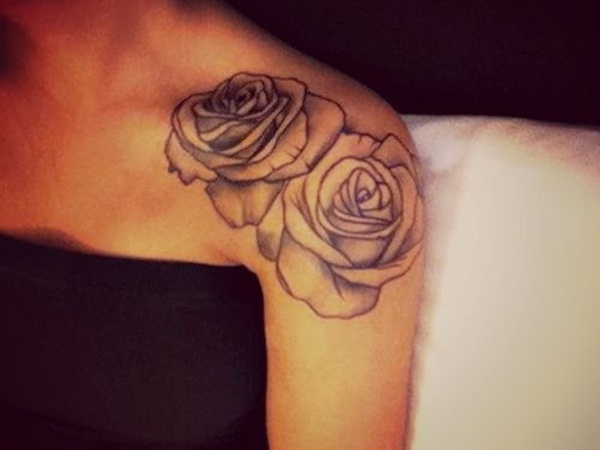 Rose Tattoo Designs for Girls38