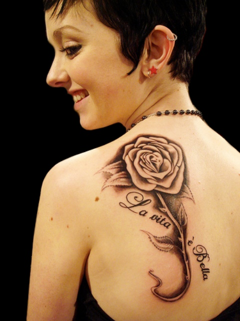 Rose Tattoo Designs for Girls44