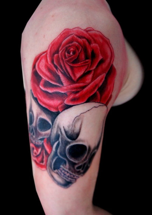 Rose Tattoo Designs for Girls9