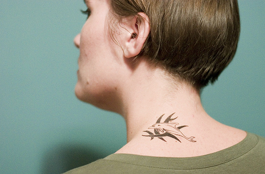 Dolphin Neck Tattoo