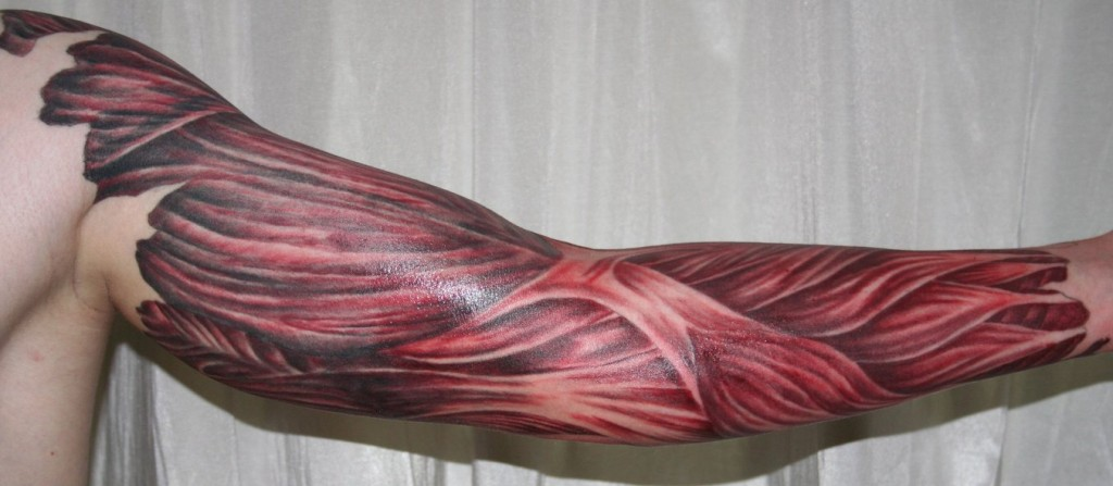 Arm with muscle tissue5 Tattoo