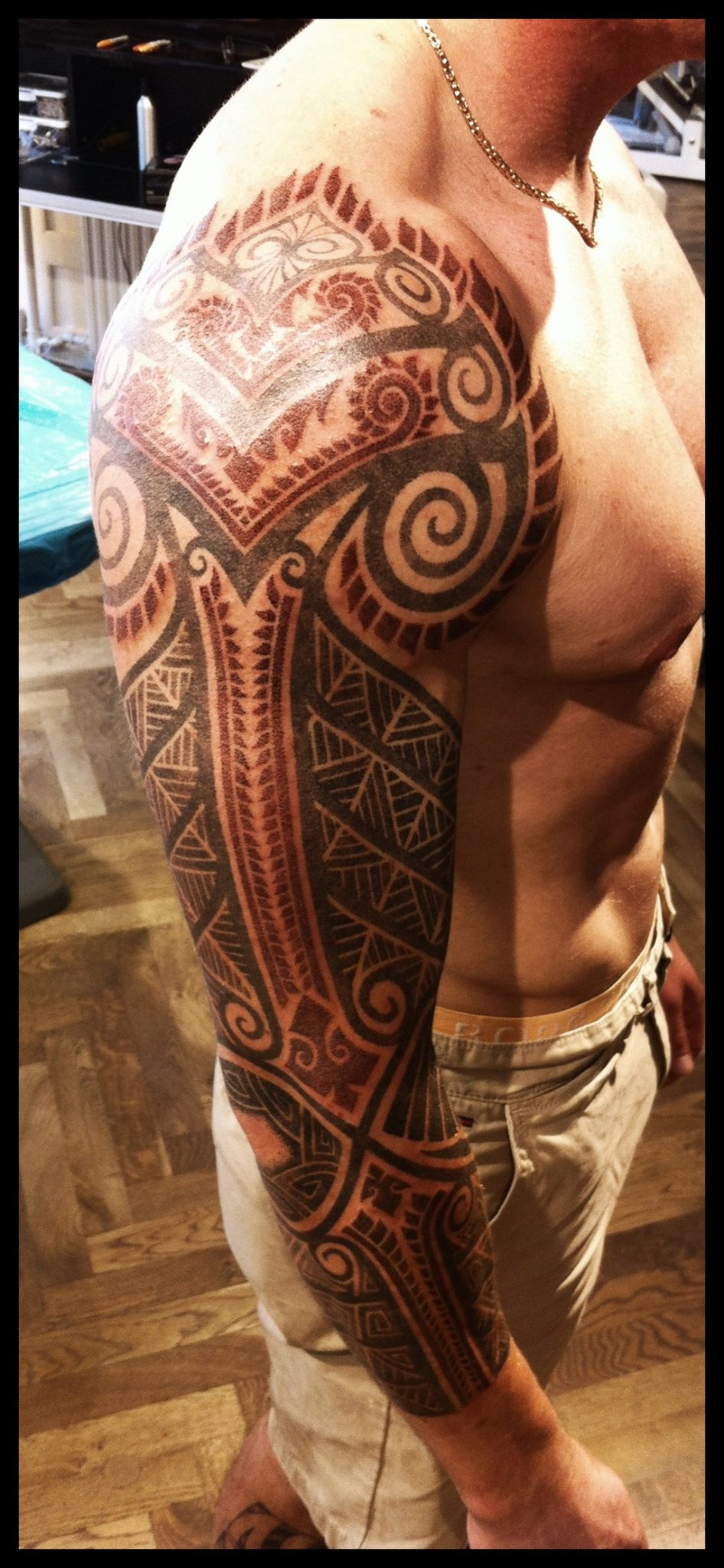 Tribal Celtic Tattoo Sleeve