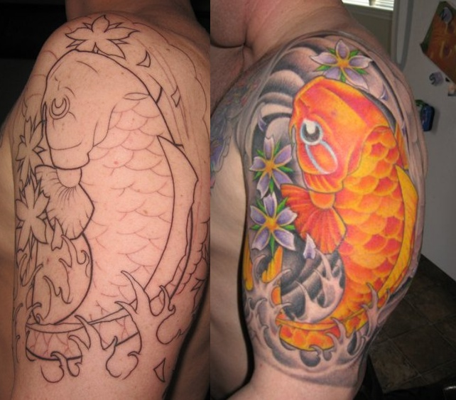 Koi Tattoo Sleeve Buddha