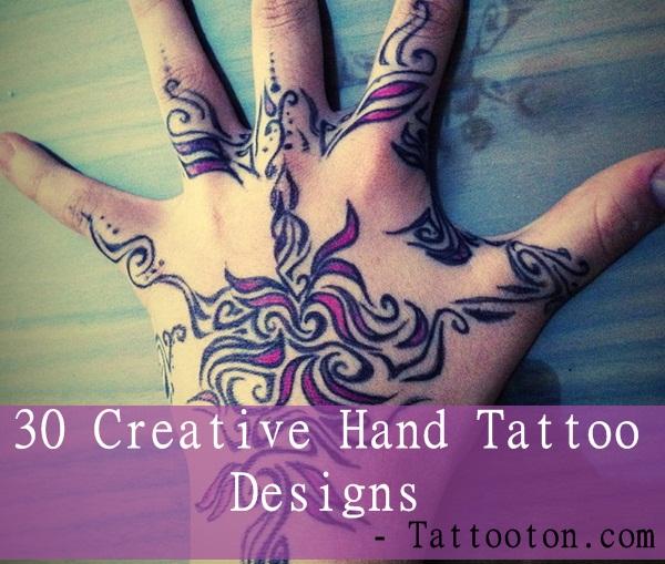 30 Creative Hand Tattoo Designs