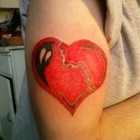 Heart Tattoo on Hand
